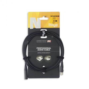 Аудио кабель XLR мини Stagg NAC3MXFMXMR