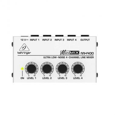 Компактный 4-канальный микшер линейных сигналов Behringer MX400