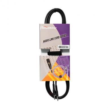 Кабель акустический стерео SoundKing BB322-3M