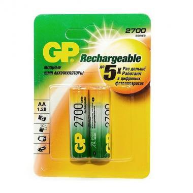 Аккумулятор AA 2700 mAh GP 270AAHC-BL2, 2 шт