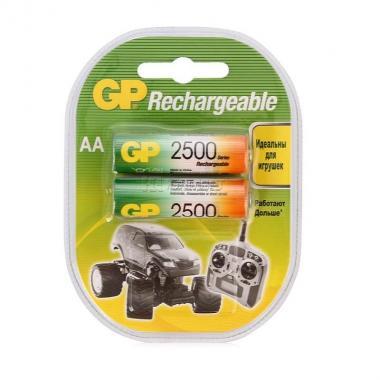 Аккумулятор AA 2500 mAh GP 250AAHC-2CR2, 2 шт