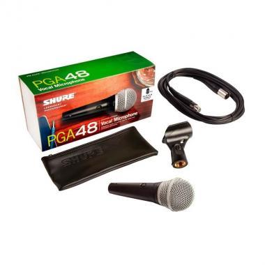 Вокальный микрофон c выключателем Shure PGA48-XLR-E