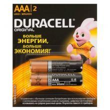 Элемент питания ААА Duracell Original LR03, 2 шт