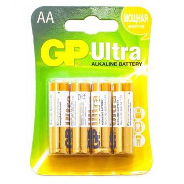 Элемент питания AA GP Ultra GP15AU-CR4, 4 шт