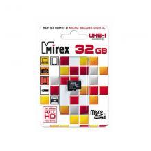 Флеш карта microSDHC 32GB Mirex 13612-MCSUHS32
