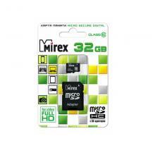 Флеш карта microSDHC 32GB Mirex 13613-AD10SD32