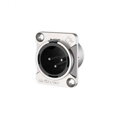 Разъем 3P XLR(m) панельный Roxtone RX3MD-NT