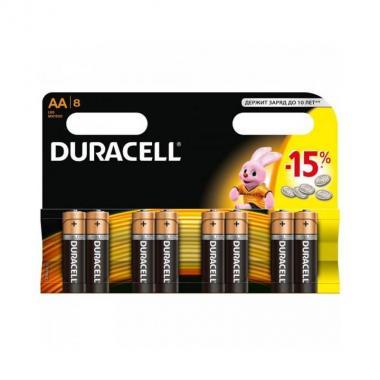 Элемент питания AA Duracell MN1500, 8 шт