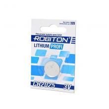 Элемент питания CR2025 Robiton Profi R-CR2025-BL1, 1 шт