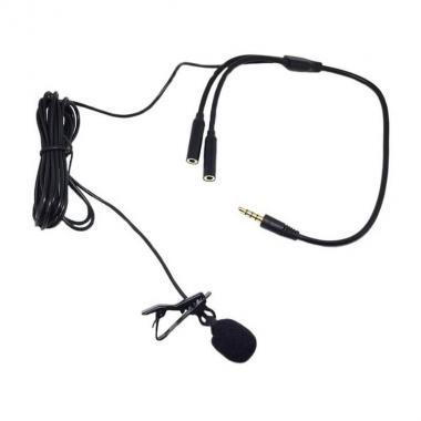 Петличный микрофон с разветлителем Maono AU-300