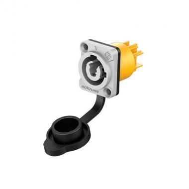 Разъем PowerCon Out панельный Roxtone RAC3MPO-WP Grey
