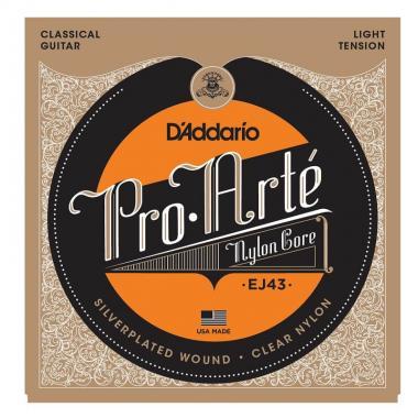 D'Addario EJ43 - струны для классической гитары, серебро (Silver), Light.