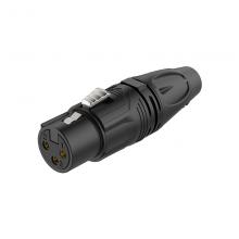 Разъем 3P XLR(f) кабельный Roxtone RX3F-BG