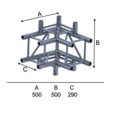 Угловой модуль для 4-х ферм квадрат горизонт Involight ISX29-C10